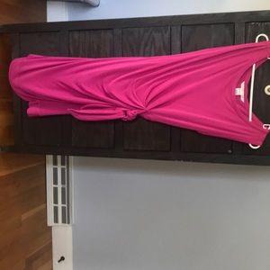 DVF pink side-tie dress